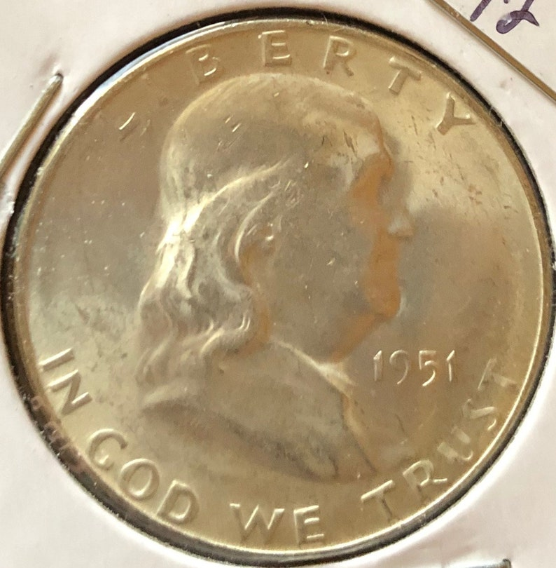 Circulated 1951-S Franklin Half Dollar 90/% Silver US Coin