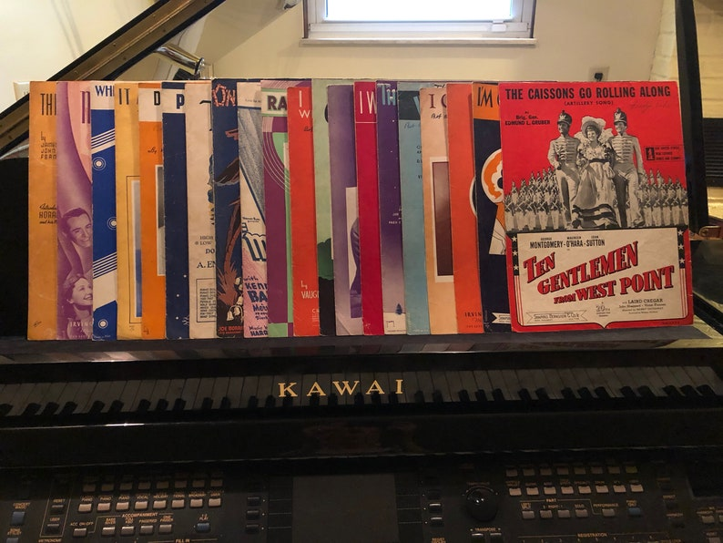 Vintage Sheet Music Lot, Sheet Music Of The 30's and 40