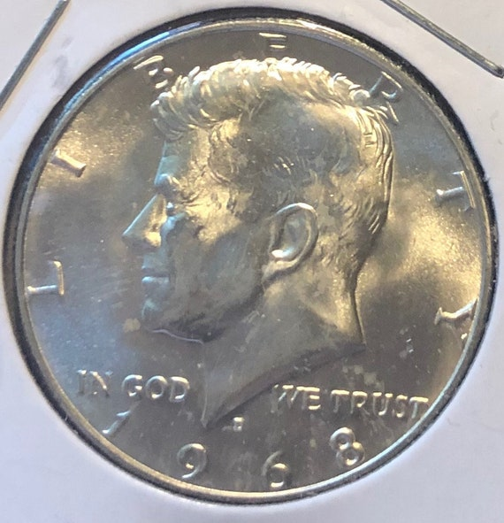 1968-D Kennedy Half Dollar BU Clad Coin  From the SMS
