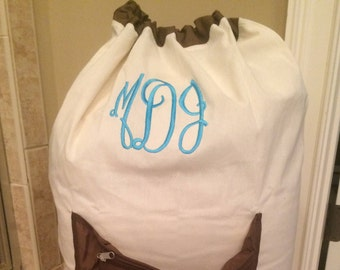 Personalized Laundry Bag/ College Laundry bag/ Large laundry bag with pocket/ Graduation gift