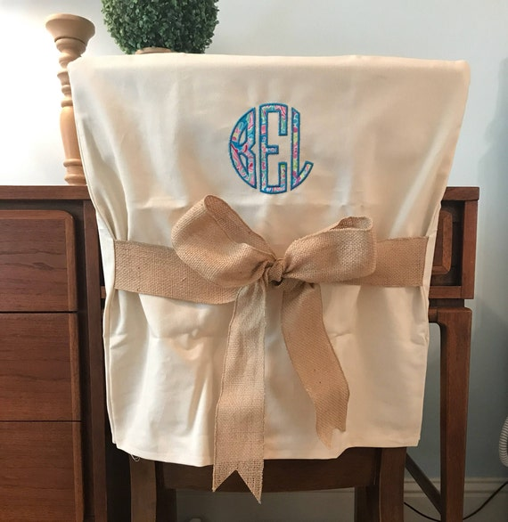 Wondrous Desk Chair Covers Monogram Dorm Chair Cover Personalized Chair Cover Office Or Dining Chair One Size Fits Most Cjindustries Chair Design For Home Cjindustriesco