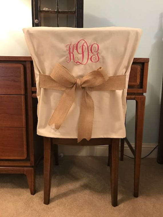 Sensational Desk Chair Covers Monogrammed Dorm Chair Back Cover Personalized Chair Cover Office Chair Dining Chair One Size Fits Most Creativecarmelina Interior Chair Design Creativecarmelinacom
