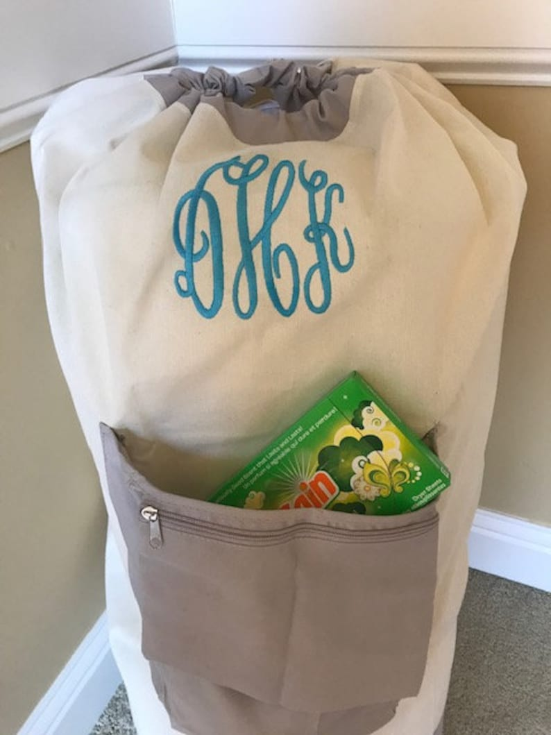 7fcfd7d2d00b Personalized Laundry Bag/ College Laundry bag/Large laundry bag with  pocket/ Graduation gift