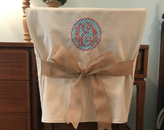 Superior Desk Chair Covers/Monogrammed Chair Back Cover / Personalized Chair Cover /  Design Your Own / One Size Fits Most