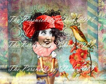 Shy-LIMITED EDITION- Digital collage fine art print