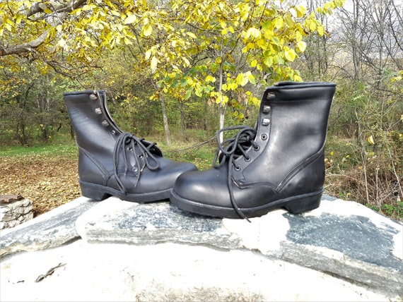 Vintage boots, Military boots, Leather boots, Com… - image 4