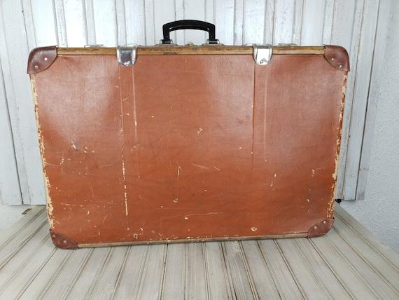 Vintage big suitcase, Old suitcase, Cardboard suit
