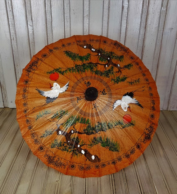 Vintage umbrella, Umbrella, Rice paper umbrella, … - image 6