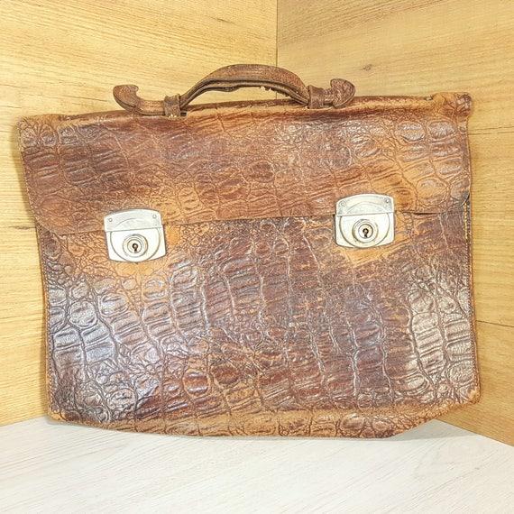 Leather bag, Vintage brown, Messenger bag, Leather