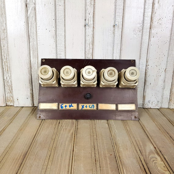 Vintage fuses in box Set of ceramic fuses 1950s Old electric   EtsyEtsy