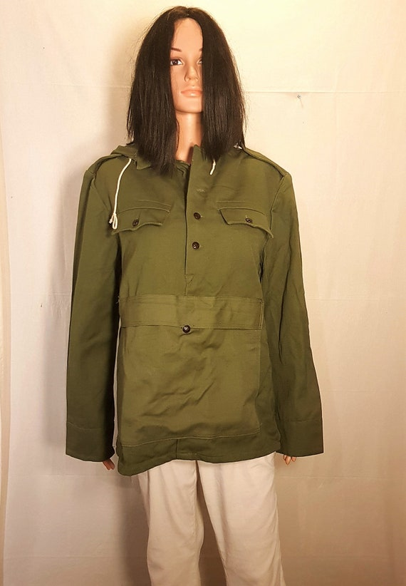 Canvas anorak, Vintage unisex canvas jacket with b