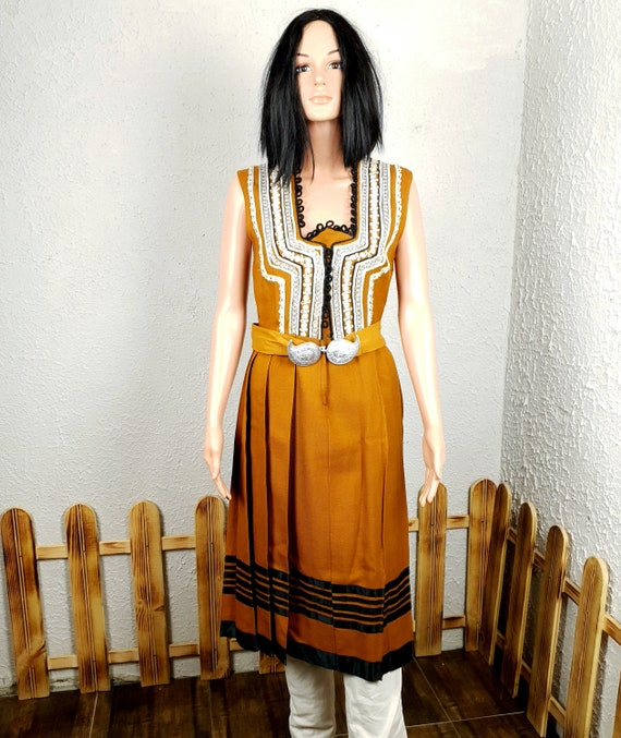 Аuthentic national dress, Hand-embroidered dress,