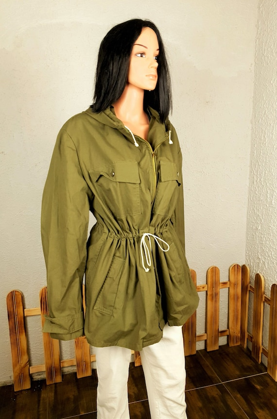 Vintage unisex canvas jacket with button, Hunting