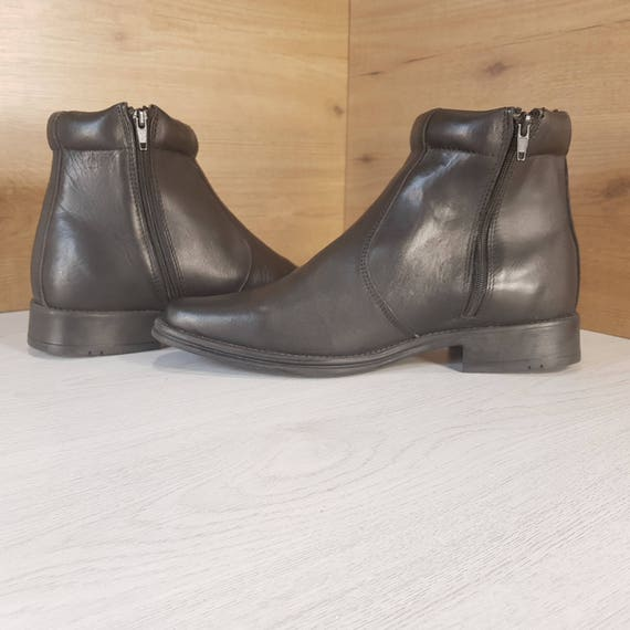 Military boots, Vintage boots, Officer boots, Blac