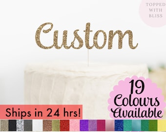 Custom Cake Topper, Custom Party Decorations, Happy Birthday Topper, Happy Birthday Cake Topper, Cake Toppers, Name Cake Topper