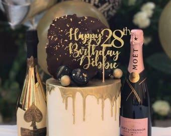 Custom Cake Topper, Custom Topper,Cake Topper,Custom Birthday Topper,Custom Toppers,Birthday Toppers,25th Topper,50th Topper,21st Topper