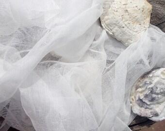 Organic cotton for nuno felt, Cotton gauze, 100% Cotton, 90 cm Width, 35.4 Inches Width