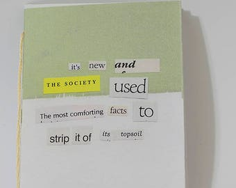 comforting facts, poetry zine