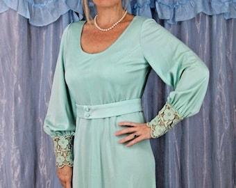 Vintage Aqua Green Lilli Diamond Dress