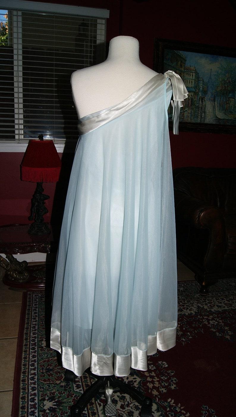 Stunning /& Rare Internationale Couture PEDRO RODRIGUEZ Peignoir Set Goddess Blue