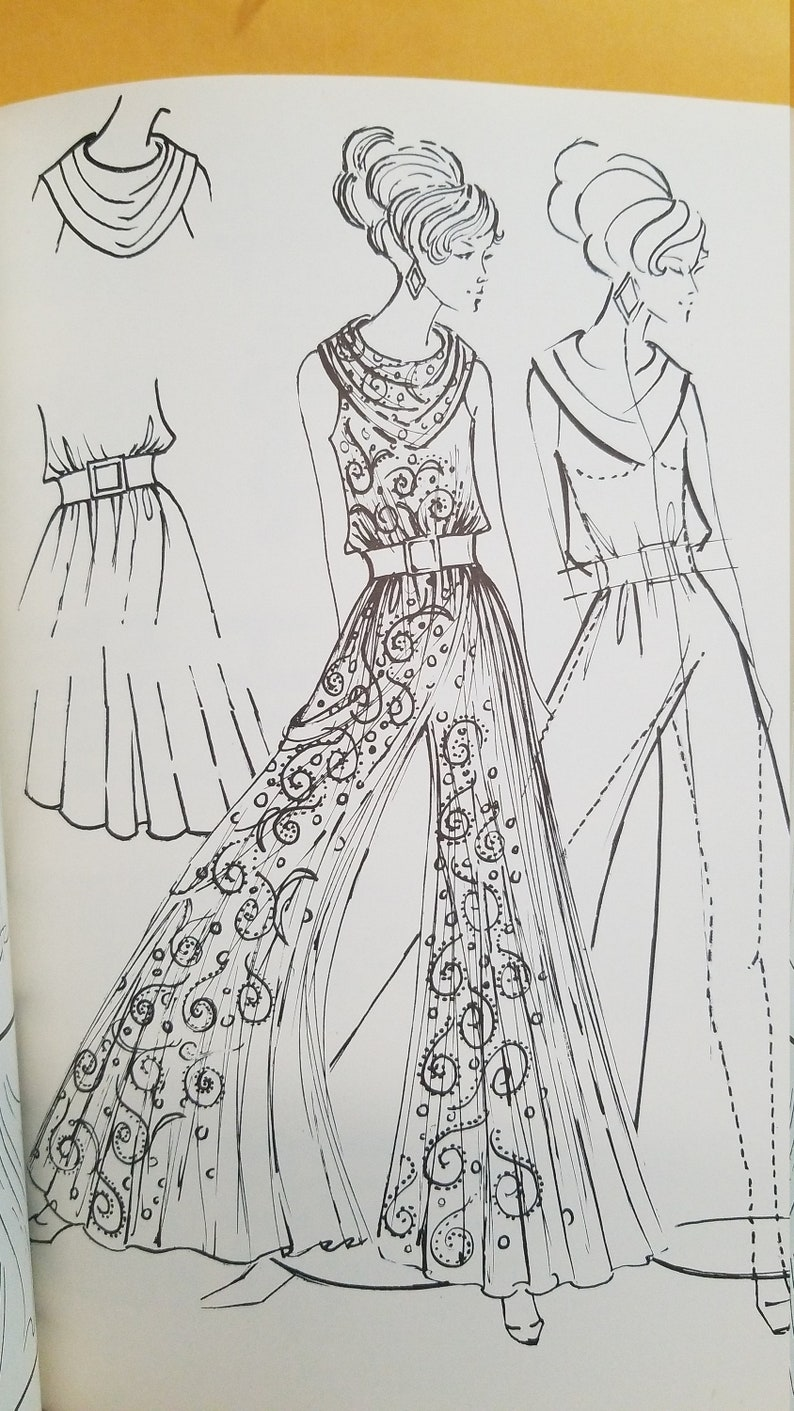 Fashion Design Drawing by Patrick John Ireland 1970 1971 1975