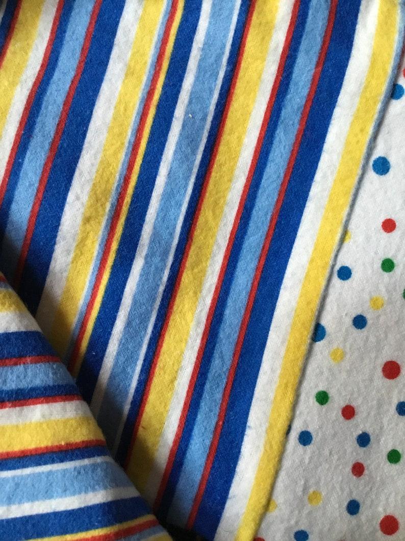 Baby Blanket Cotton Flannel Baby Blanket with Vintage Rick Rack Trim Handmade Baby Shower Gift