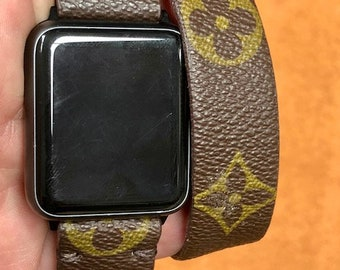 LV watch band, apple watch band, Apple watch straps, Lv Apple watch band, Series 1, 2, 3 and 4 louis vuitton,  Double Tour woL