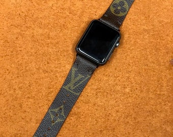 LV, apple watch band, LV monogram, Apple watch straps, Lv Apple watch band, Series 1, 2, and 3, 4 louis vuitton apple watch band brown LV