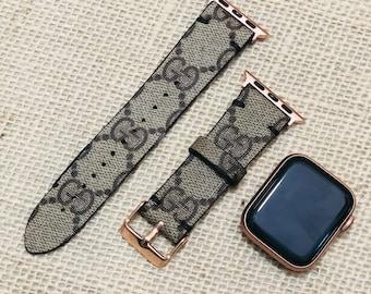 Gucci, GG apple watch band, Gucci watchband, Apple watch straps, GG Apple watch band, Series 1, 2, 3 and 4 apple watch band