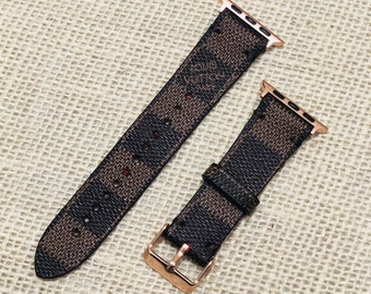 LV, apple watch band, Damier Ebene, Apple watch straps, Lv Apple watch band, Series 1, 2, 3 and 4, louis vuitton apple watch band