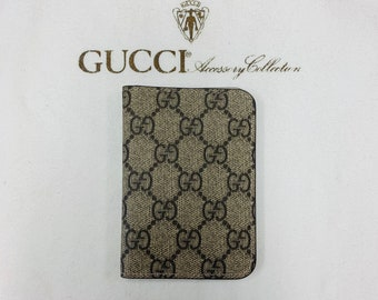 5dc5dfcc31 Personalized Gucci Leather Wallet, Slim Credit Card Wallet, Gucci cardholder,  handmade, business card, Minimalist Monogram Gucci Wallet