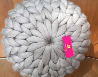 Chunky knit Sophie cushion   Sumptuous merino wool treats for your home