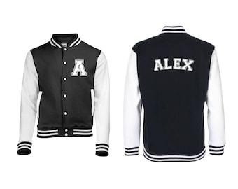 Personalized Initial and Name Varsity Jacket, Letterman Jacket