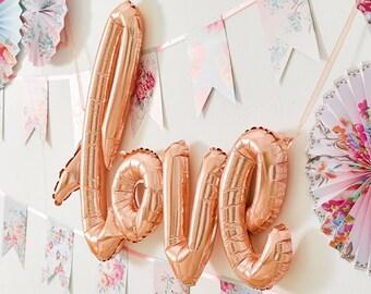 Feuille Or Rose amour ballon, Decor mariage, Baby Shower Decor, Decor de fiançailles, Bachelorette Decor, Hen Party Decor, équipe mariée