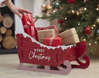Christmas Present Sleigh, Alternative Stocking, Alternative Christmas Sack, Holiday Present Sleigh, Santa Sleigh, Kids Stocking