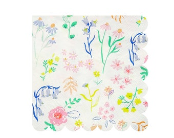 Floral paper napkins etsy 20 small floral party napkins floral paper napkins wildflower napkins ditsy floral bluebell napkins pastel party napkins tea party mightylinksfo