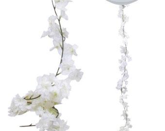 White flower garland etsy decorative white blossom floral garland artificial flower garland botanical wedding rustic wedding wedding garlands garden mightylinksfo