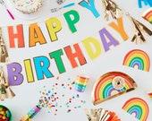 Rainbow Party Decorations, Rainbow Birthday Party, Rainbow Baby Shower, Rainbow Party Supplies, Rainbow Plates, Rainbow Balloons