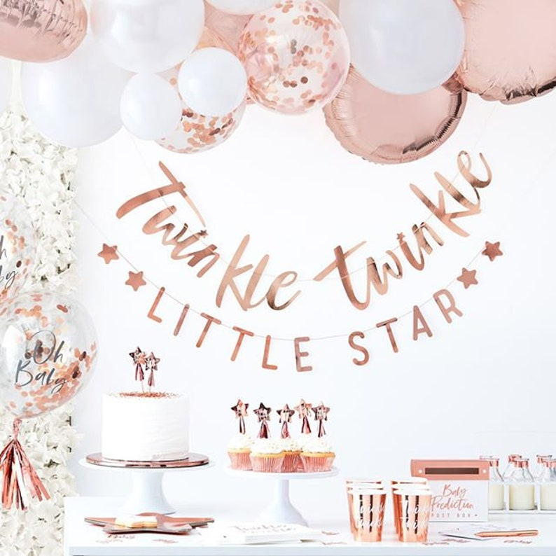 Kit baby shower fille rose gold - Créatrice ETSY : supersweetparty