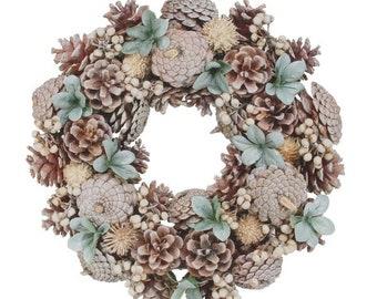 Woodland Sage Door Wreath, Christmas Wreath, Christmas Front Door wreath, Traditional Christmas, Christmas Wreath, Rustic door Wreath