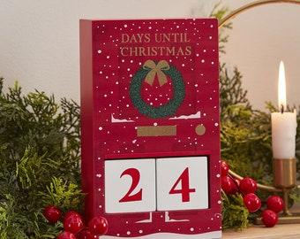 Christmas Advent Calendar Countdown, Christmas Calendar, Advent Calendar, Kids Calendar, Christmas Countdown, Rustic Christmas, Festive Door