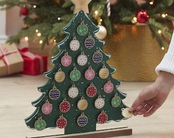 Christmas Tree Reuseable Advent Calendar, Christmas Calendar, Advent Calendar, Kids Calendar, Christmas Countdown, Rustic Christmas