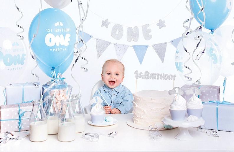 Kit 1er anniversaire bébé garçon - Créatrice ETSY : supersweetparty