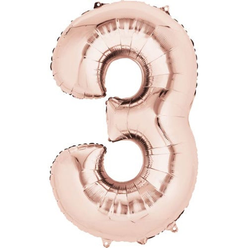 35 Rose Gold Number Balloon 6th Rose Gold Number Six Balloon 35 Inch Rose Gold Number 6 Balloon Rose Gold Balloon