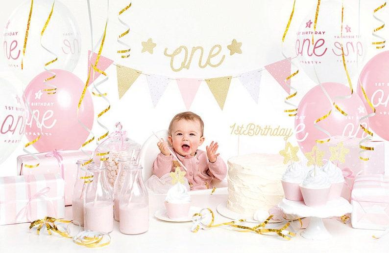 Kit 1er anniversaire bébé fille - Créatrice ETSY : supersweetparty