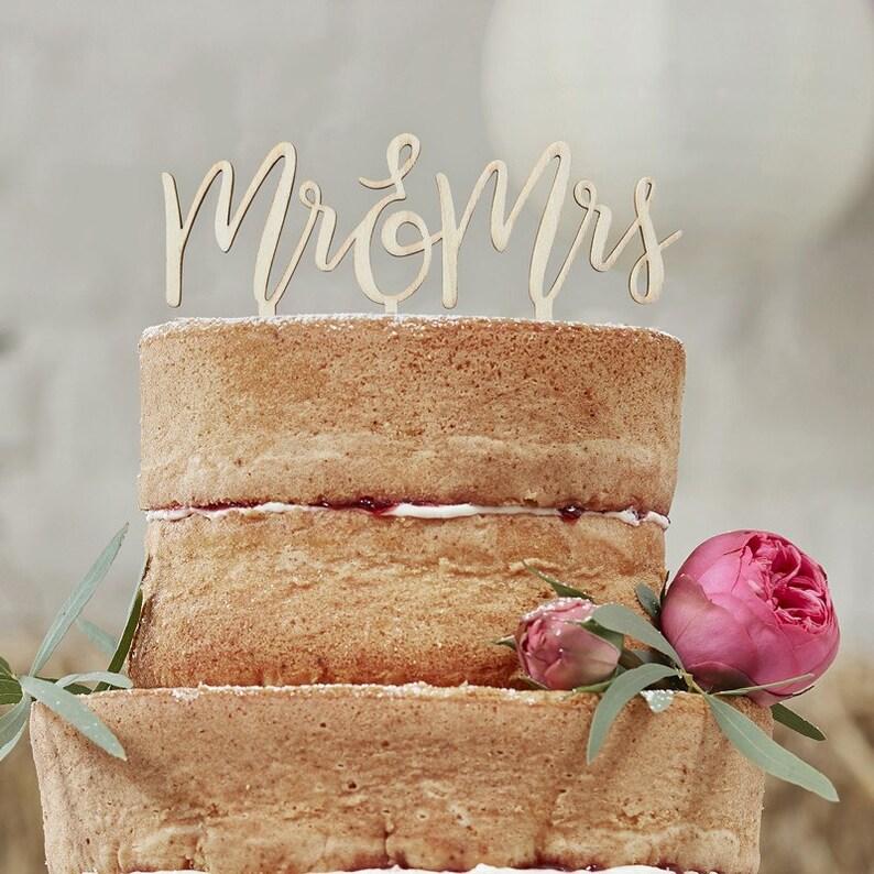 Wooden Mr And Mrs Cake Topper Wedding Cake Cake Topper Rustic Wedding Cake Topper Vintage Wedding Boho Wedding Botanical Wedding