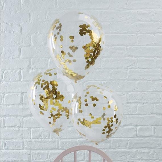 5 globos de oro de confeti globos de boda cumpleaños globos  6dc787b85cf