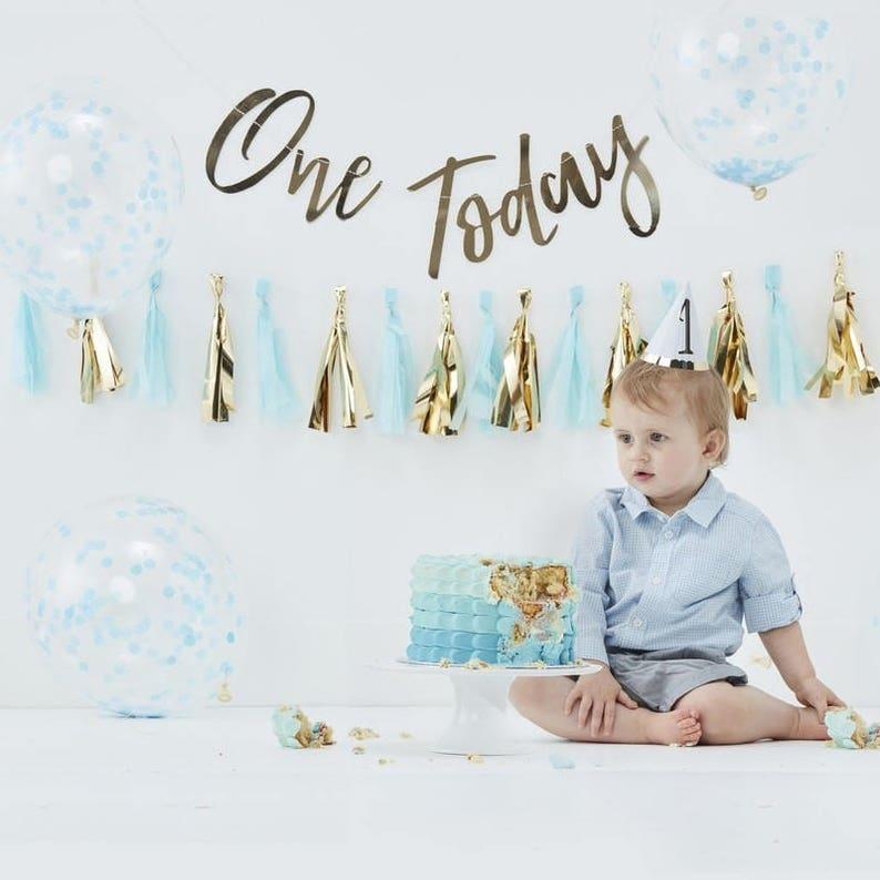 Blue Cake Smash Kit Props 1st Birthday