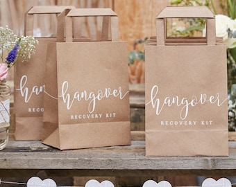 Hangover Cure Bags, Hangover Kit Bags, Hangover Party Bags, Hangover Kits, Wedding Hangover Bags, Bachelorette, Hen Party, Rustic Wedding