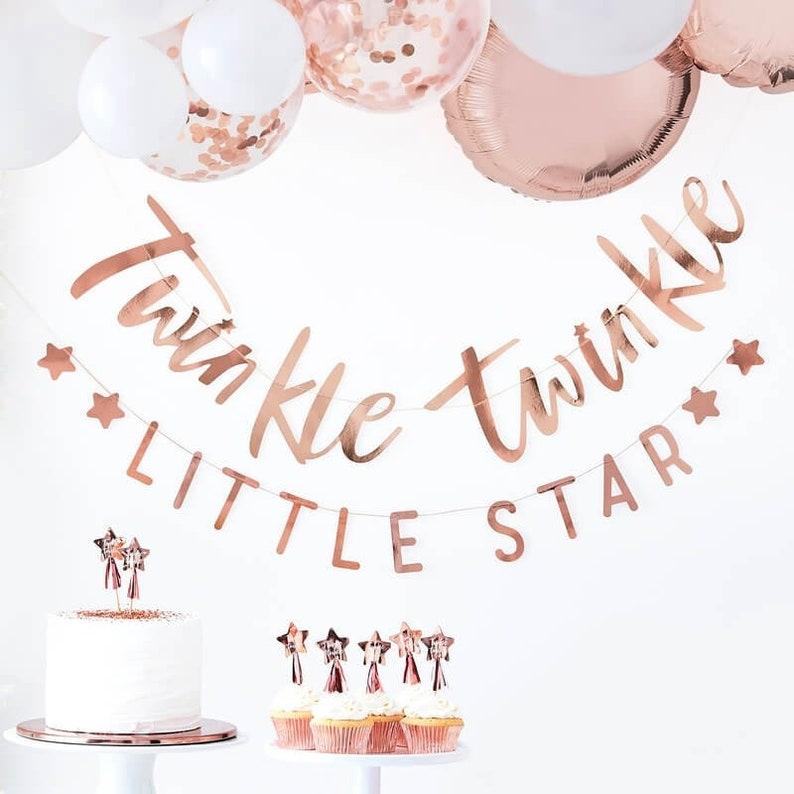 Twinkle Twinkle 16 Rose Gold Baby Shower Paper Party Napkins Rose Gold Napkins New Baby Baby Shower Napkins Baby Shower Gender Reveal